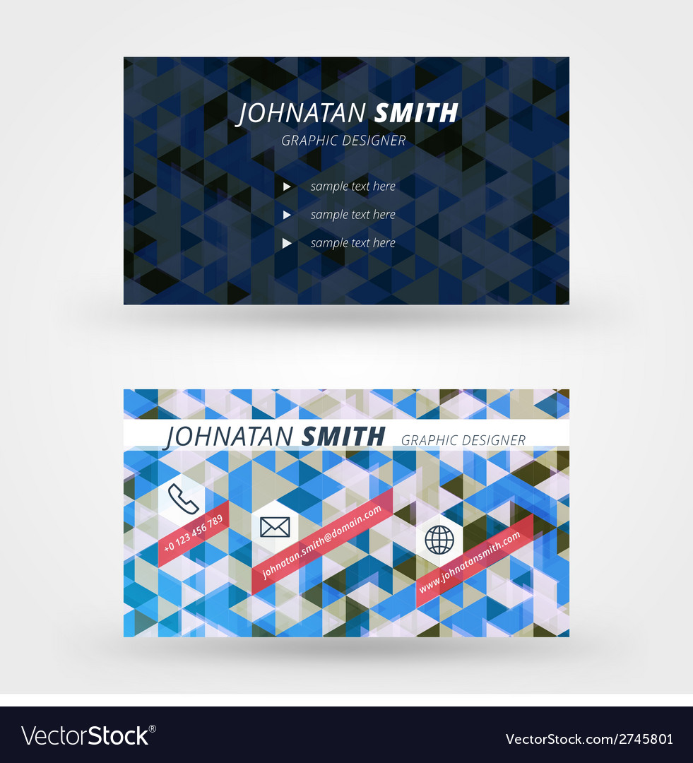 Creative business card design print templat vector | Price: 1 Credit (USD $1)