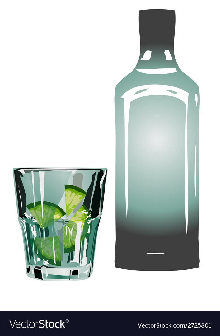 Gin and tonic vector | Price: 1 Credit (USD $1)
