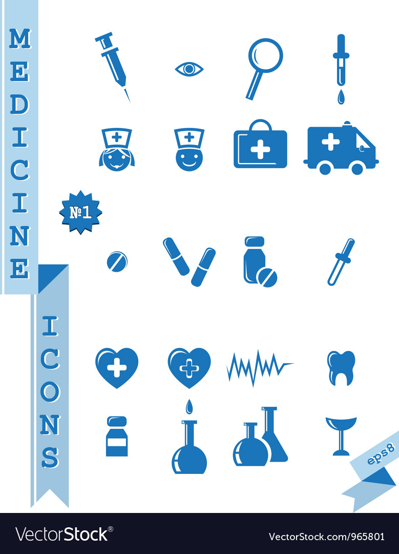 Health  medicine icons vector | Price: 1 Credit (USD $1)