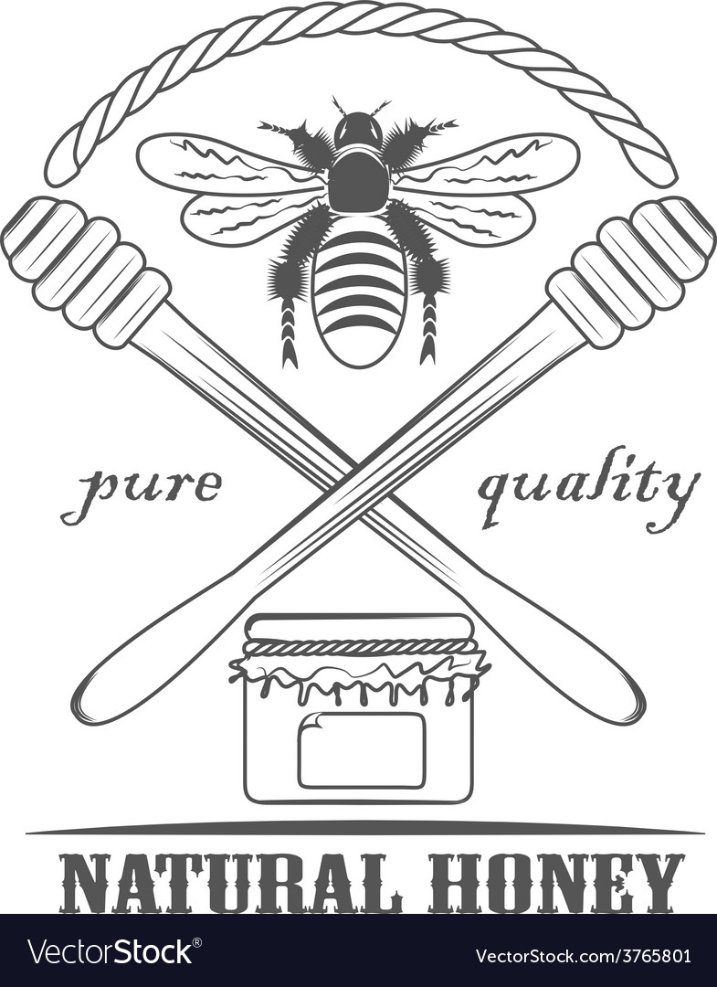 Natural honey pure vector | Price: 1 Credit (USD $1)