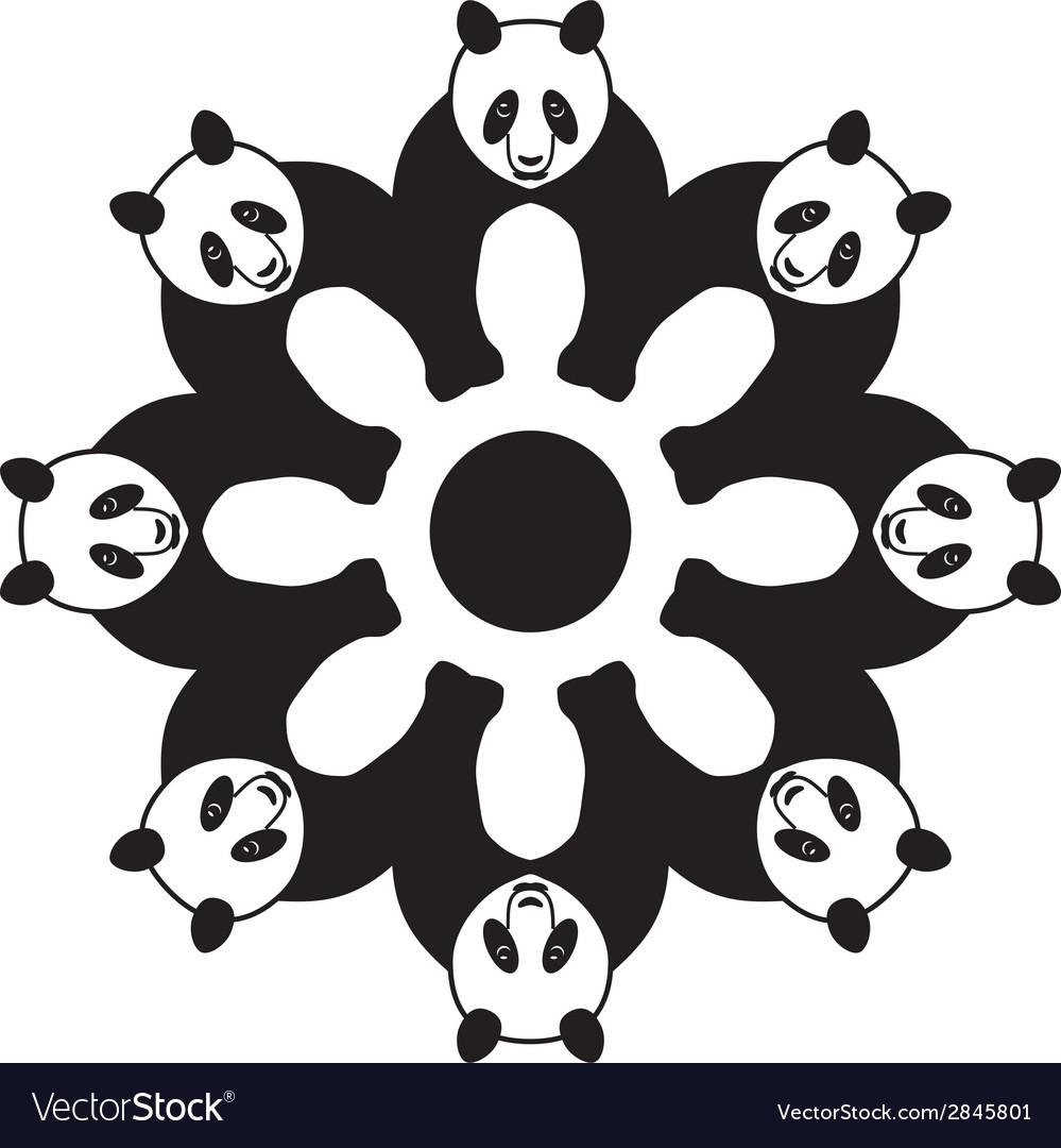 Panda in circle vector | Price: 1 Credit (USD $1)