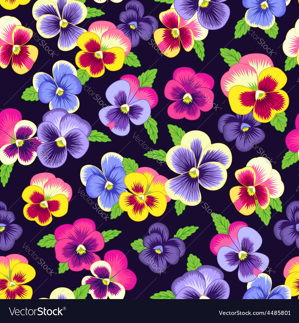 Pattern pansy vector | Price: 1 Credit (USD $1)