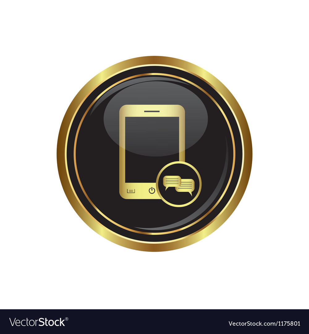 Phone icon with chat menu vector | Price: 1 Credit (USD $1)
