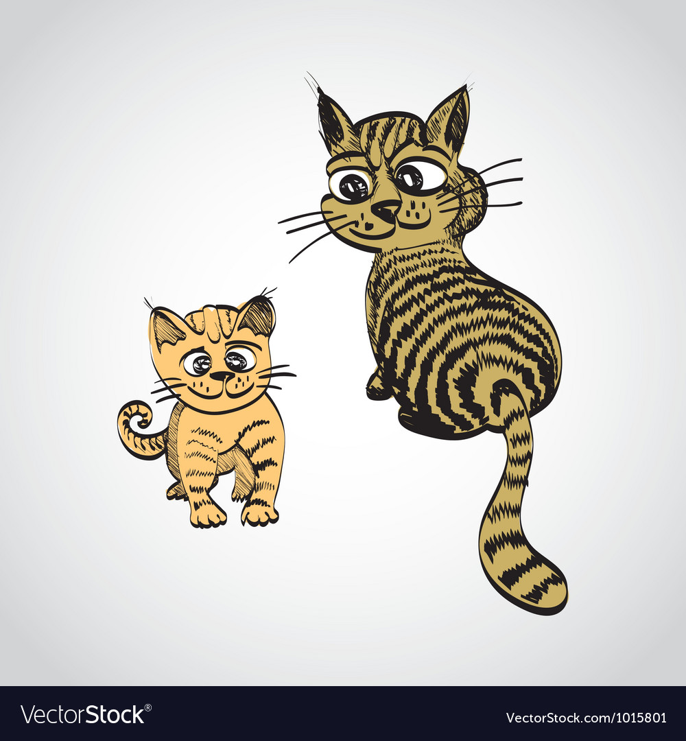 Tabby cats vector | Price: 1 Credit (USD $1)