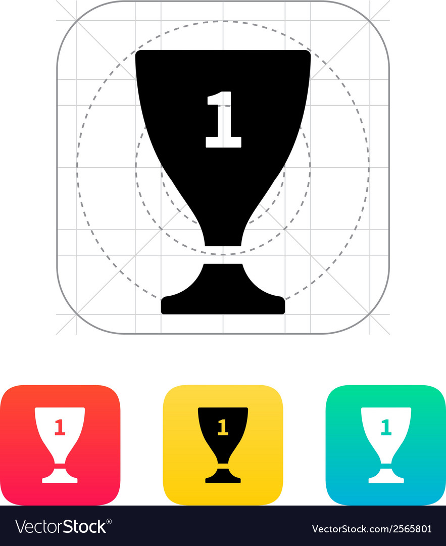 Trophy cup flat icon vector | Price: 1 Credit (USD $1)