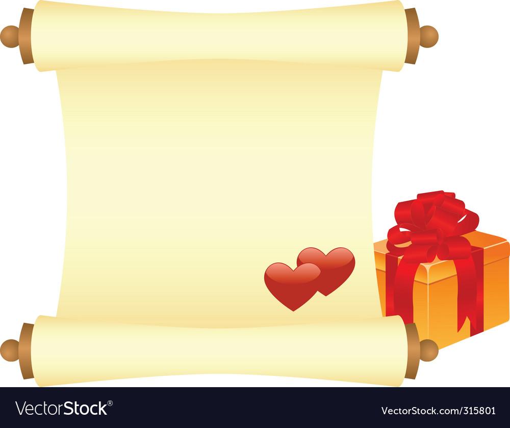Valentines scroll vector | Price: 1 Credit (USD $1)