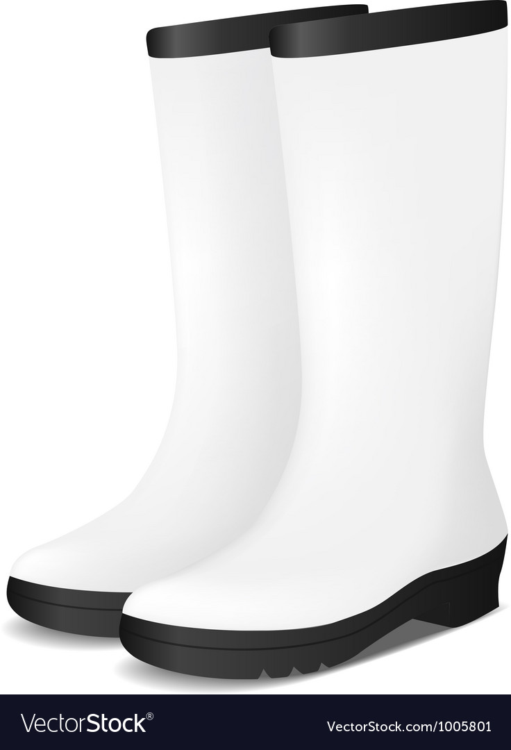 White blank safety rubber boots vector | Price: 1 Credit (USD $1)