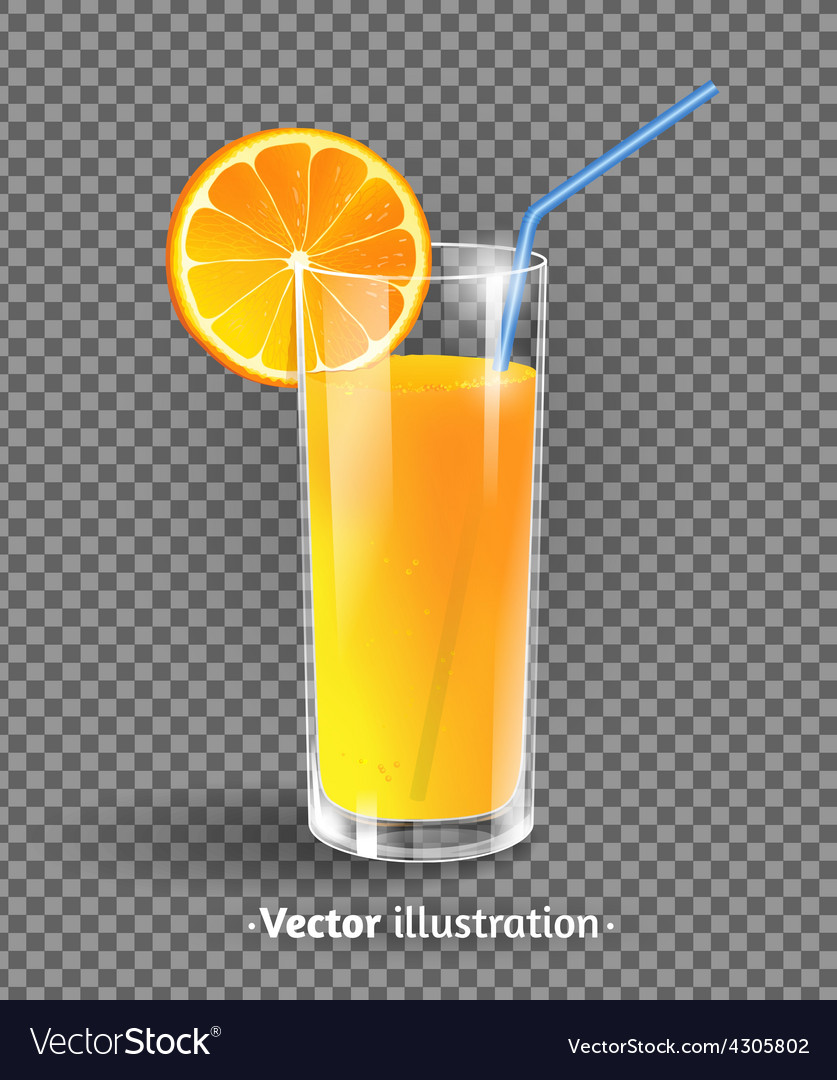 A glass of orange juice vector   Price: 1 Credit (USD $1)