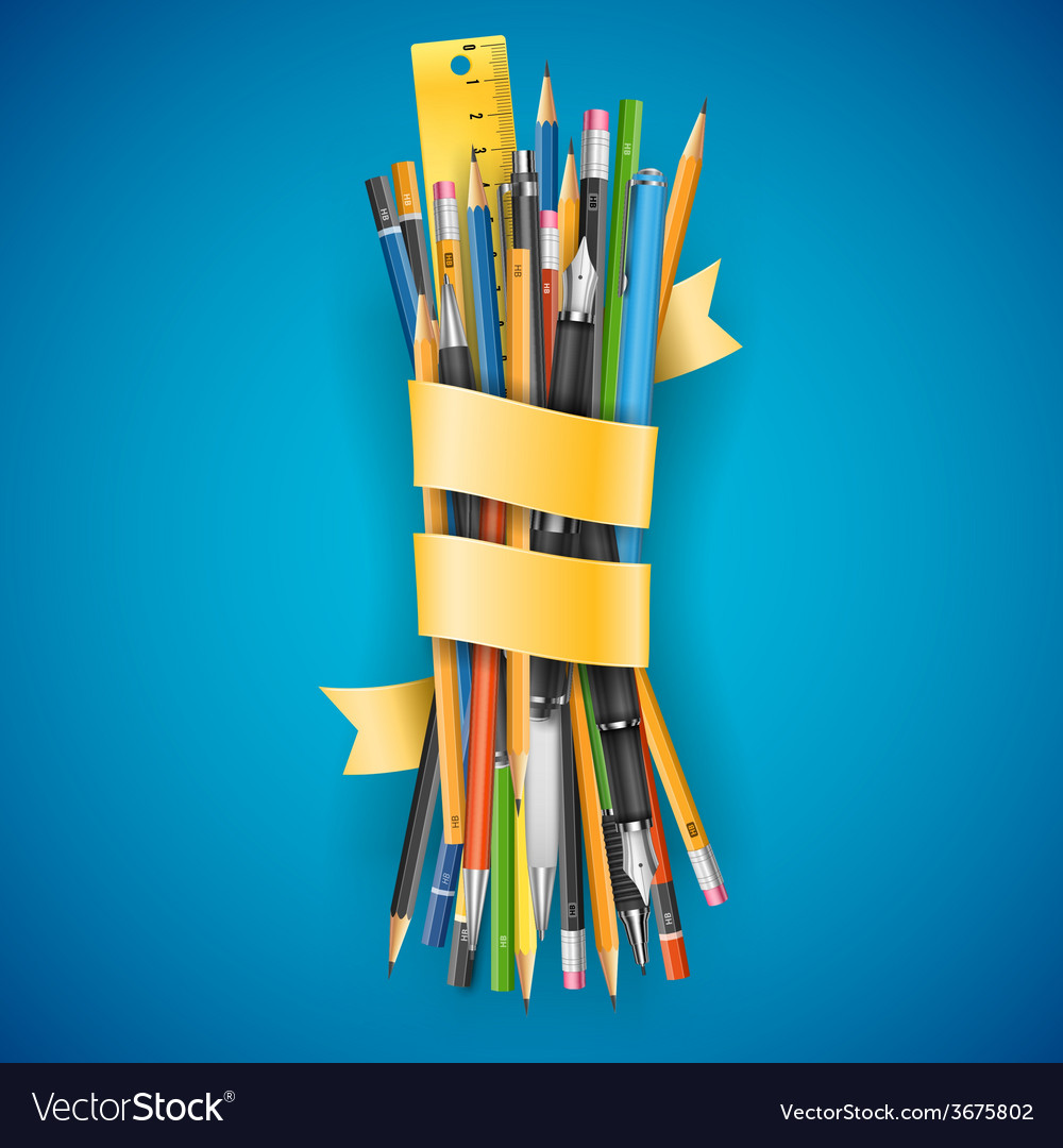 Batch of pencils vector | Price: 1 Credit (USD $1)