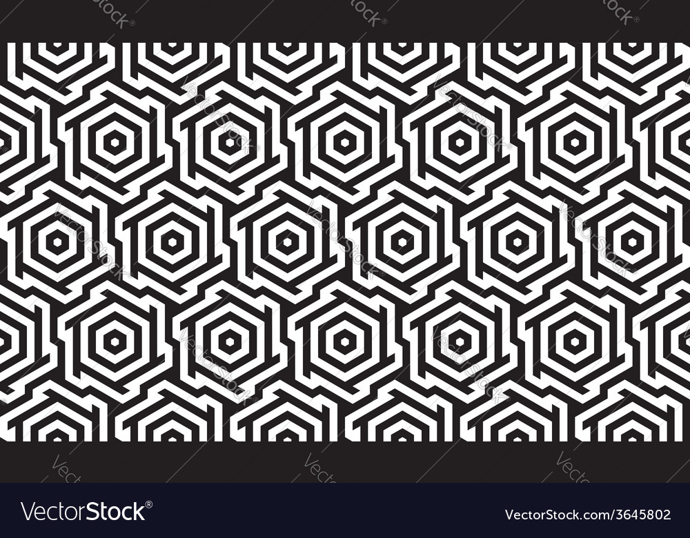 Black and white geometric pattern vector | Price: 1 Credit (USD $1)