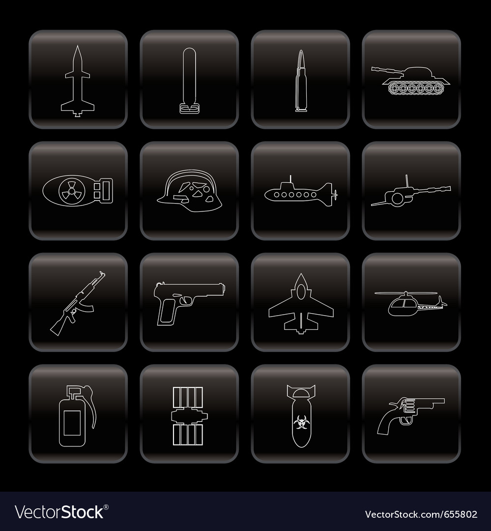 Line weapon and war icons vector | Price: 1 Credit (USD $1)