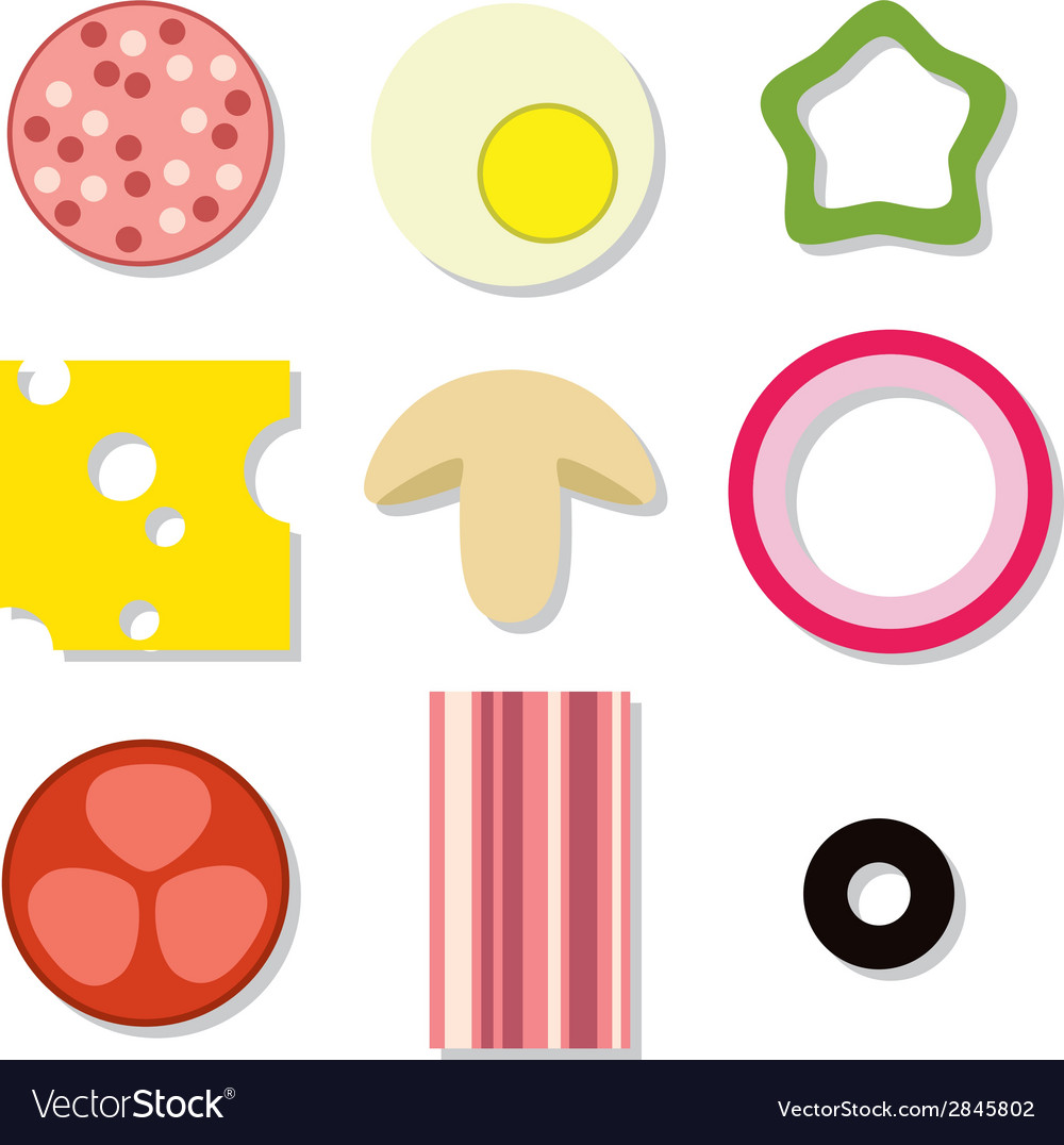 Pizza ingredients vector | Price: 1 Credit (USD $1)