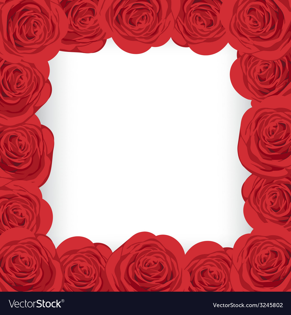 Red roses frame vector | Price: 1 Credit (USD $1)