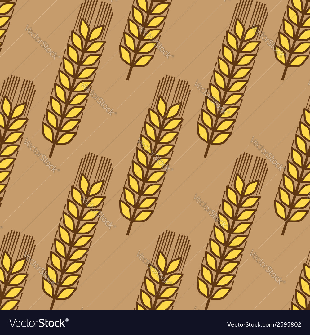 Seamless pattern of wheat ears vector | Price: 1 Credit (USD $1)