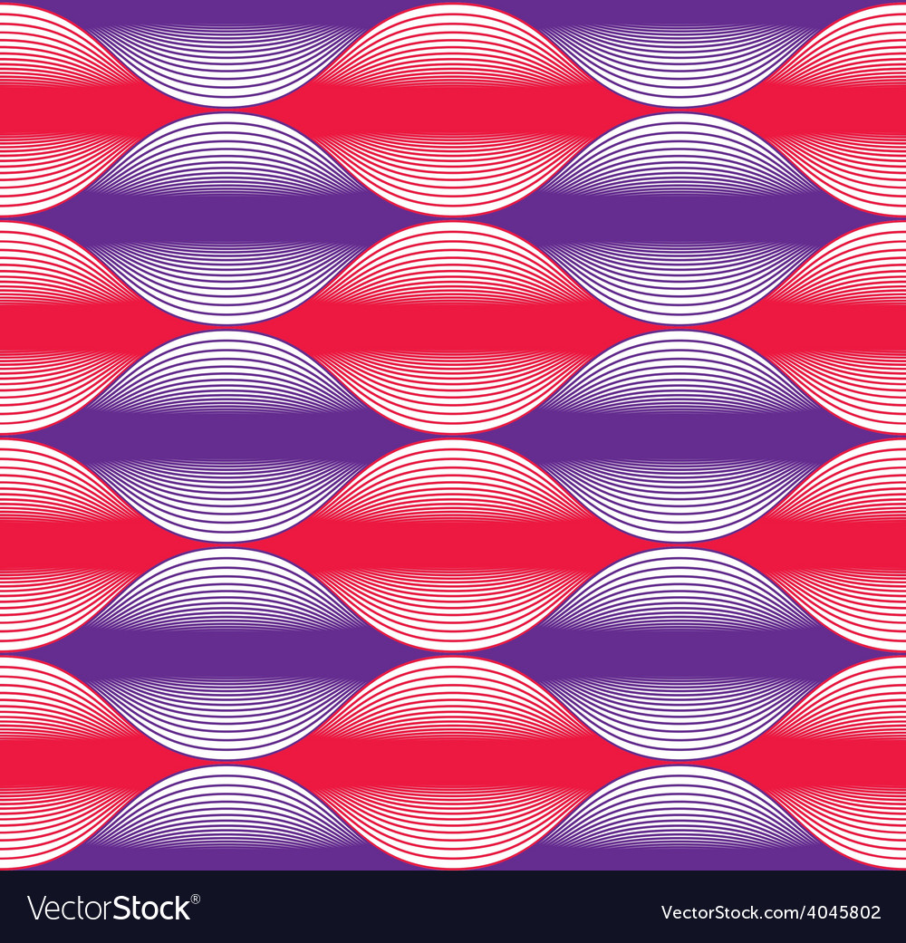 Seamless wave lines pattern abstract geometric vector | Price: 1 Credit (USD $1)