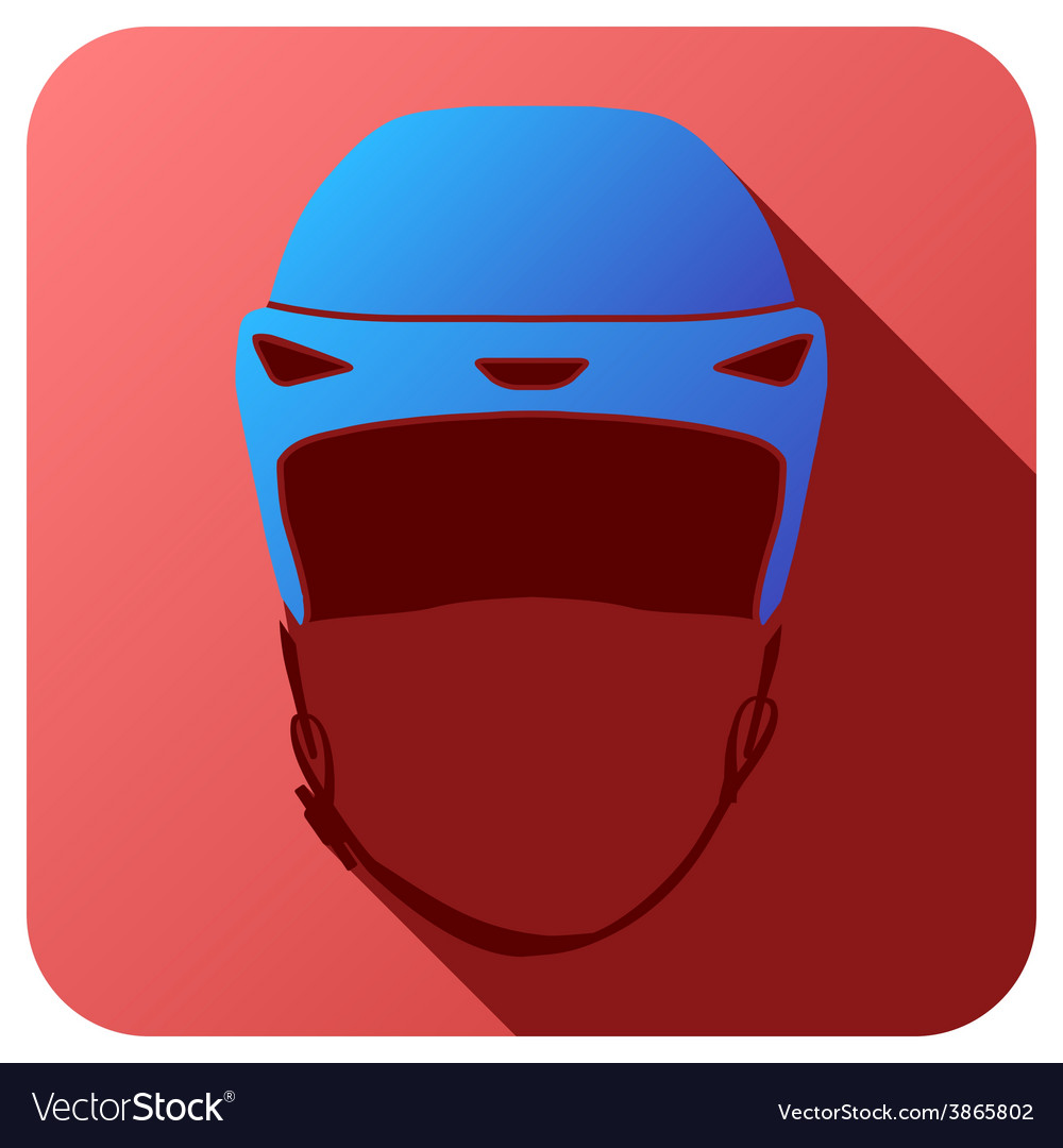 Sport icon with ice hockey in flat style vector   Price: 1 Credit (USD $1)
