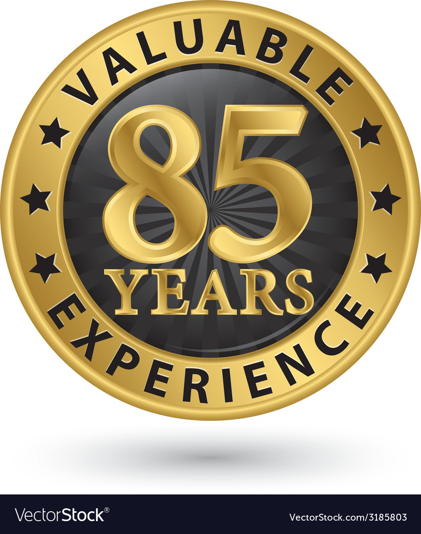 85 years valuable experience gold label vector | Price: 1 Credit (USD $1)