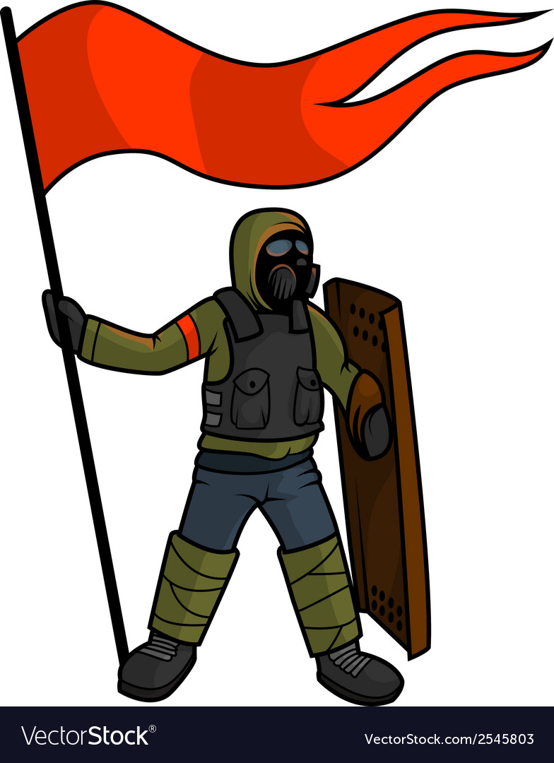 Apocalyptic patriot - isolated vector | Price: 1 Credit (USD $1)