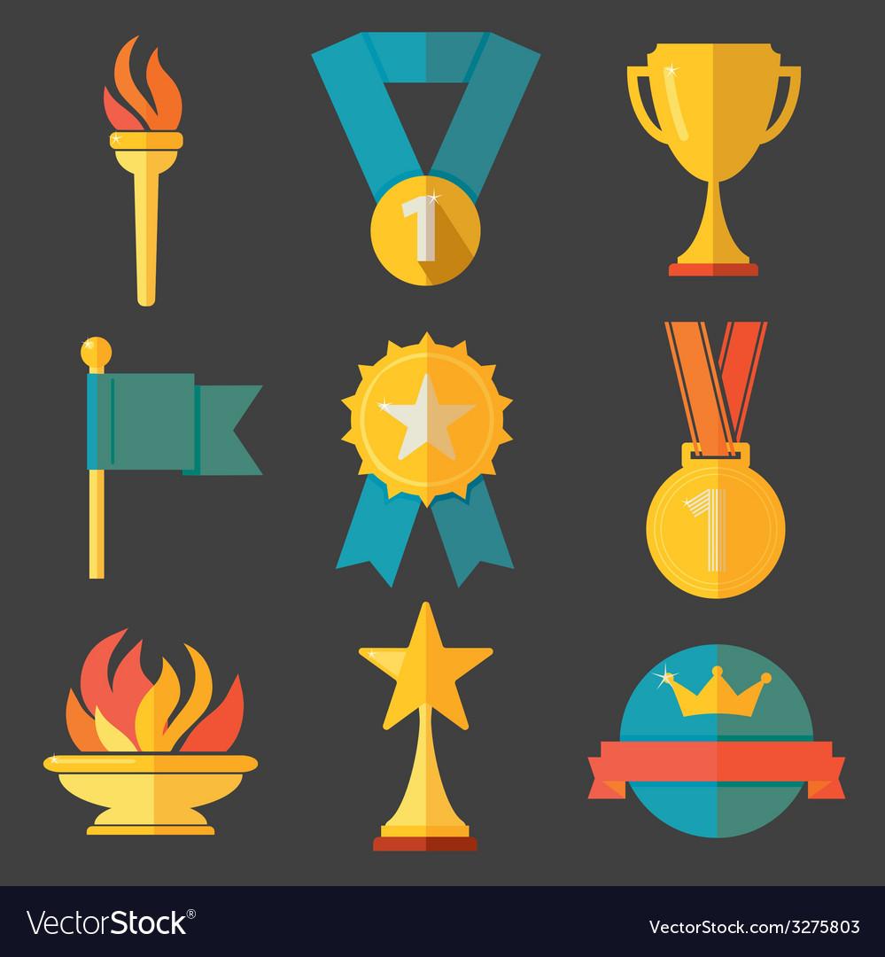 Award icons set vector | Price: 1 Credit (USD $1)