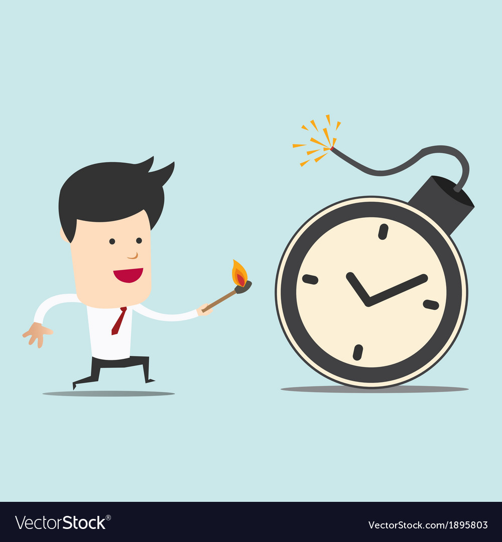 Business man and spark time bomb vector | Price: 1 Credit (USD $1)