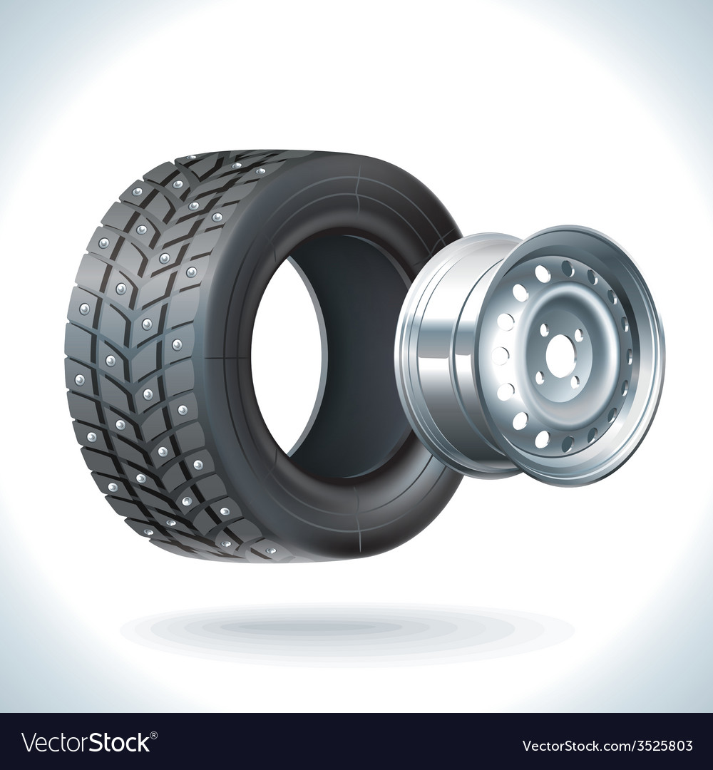 Car tire winter vector | Price: 3 Credit (USD $3)