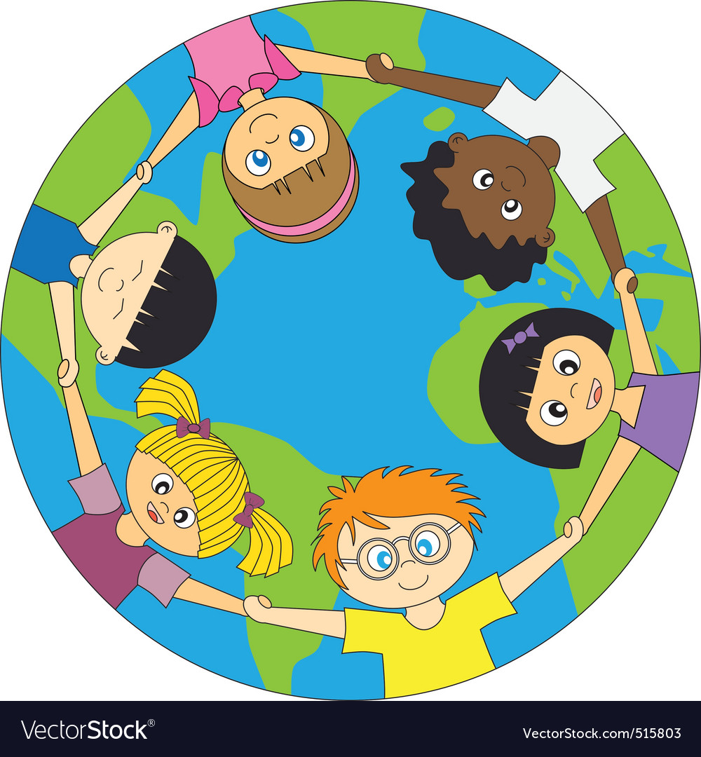 Children world vector | Price: 1 Credit (USD $1)