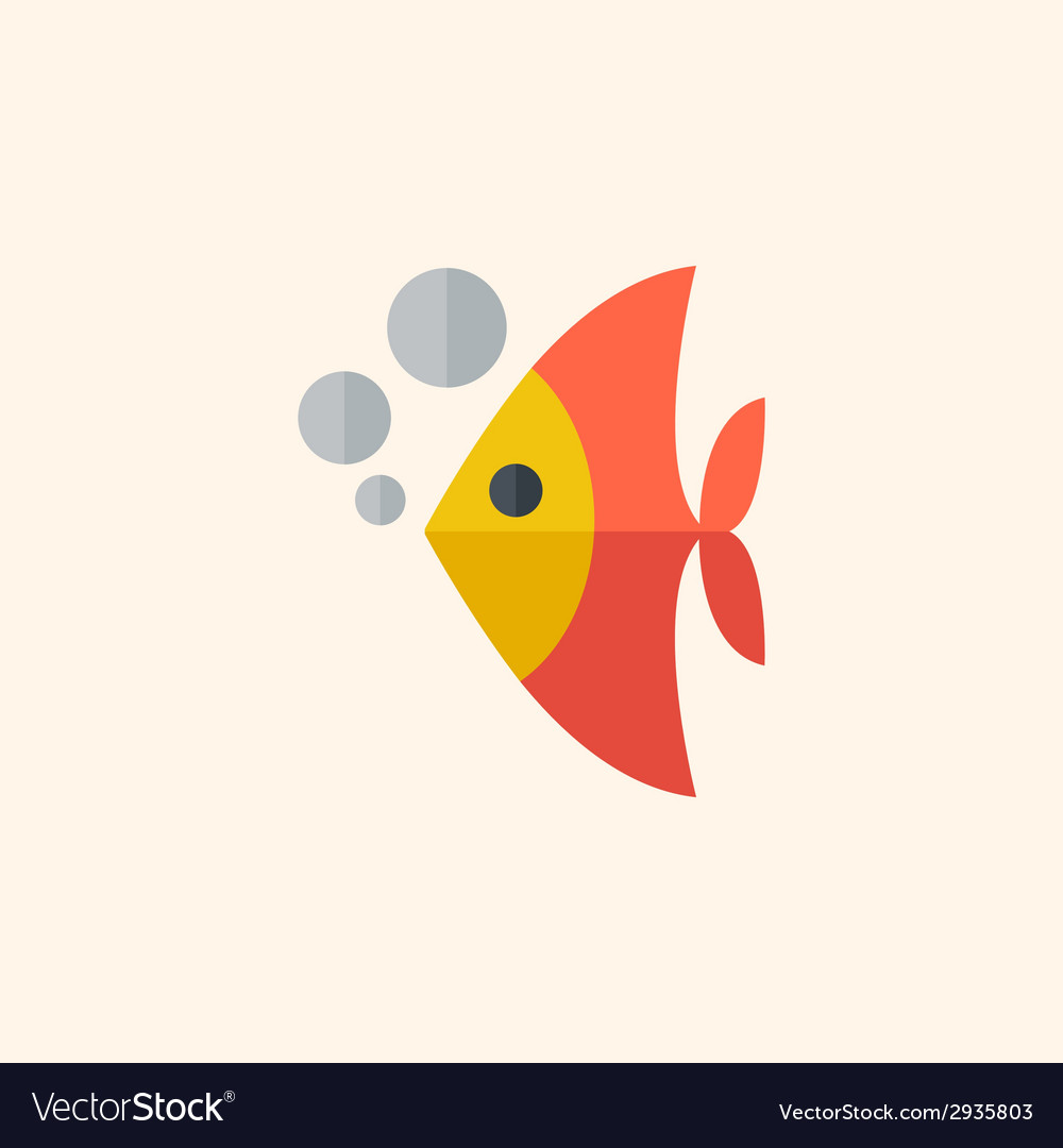 Fish flat icon vector   Price: 1 Credit (USD $1)
