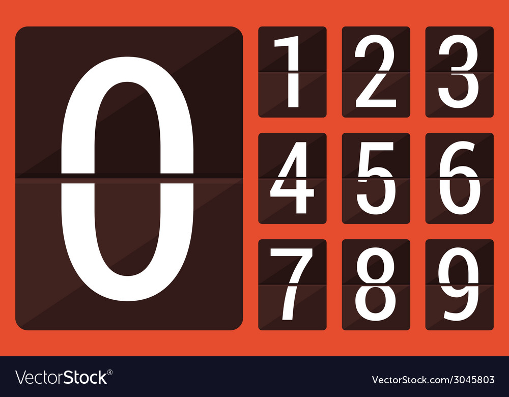 Flat countdown number vector | Price: 1 Credit (USD $1)