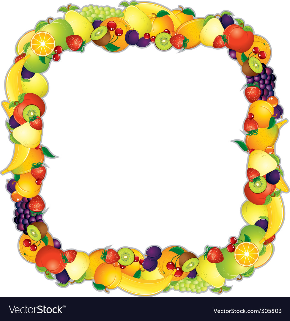 Fruits frame vector | Price: 3 Credit (USD $3)