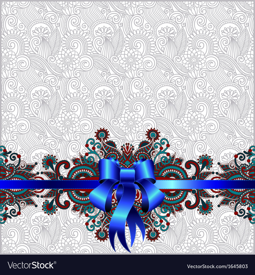 Holiday background with blue ribbon vector   Price: 1 Credit (USD $1)