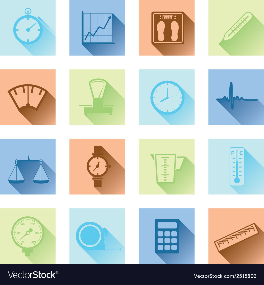 Measuring flat icons vector | Price: 1 Credit (USD $1)