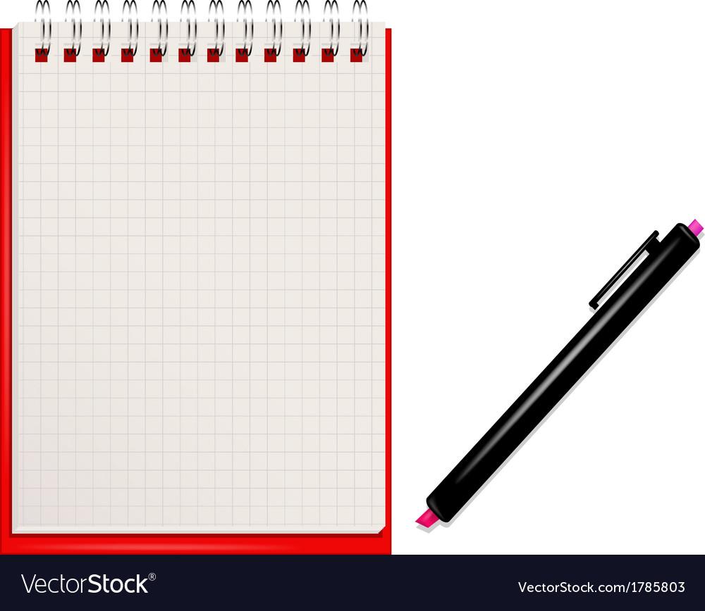 Notebook vector | Price: 1 Credit (USD $1)