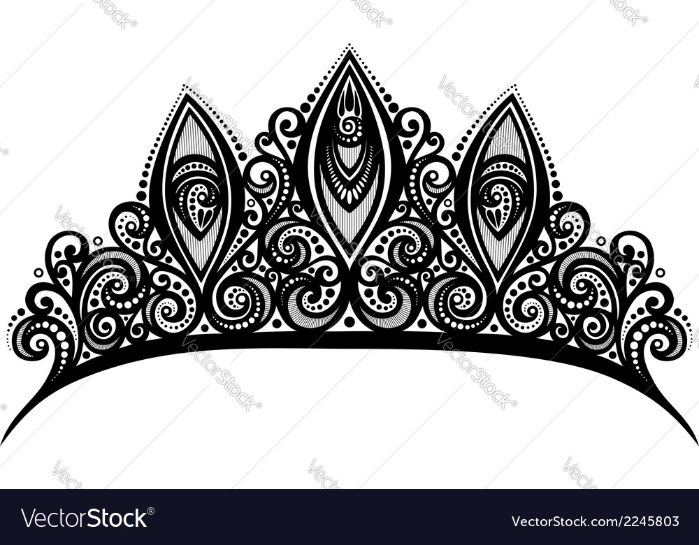 Ornate diadem vector | Price: 1 Credit (USD $1)