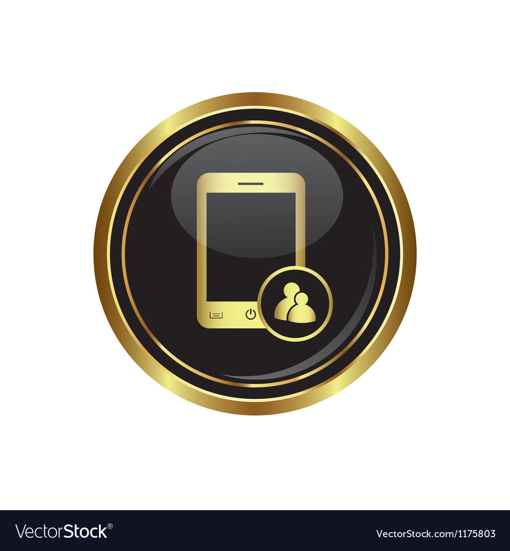 Phone with group icon vector | Price: 1 Credit (USD $1)