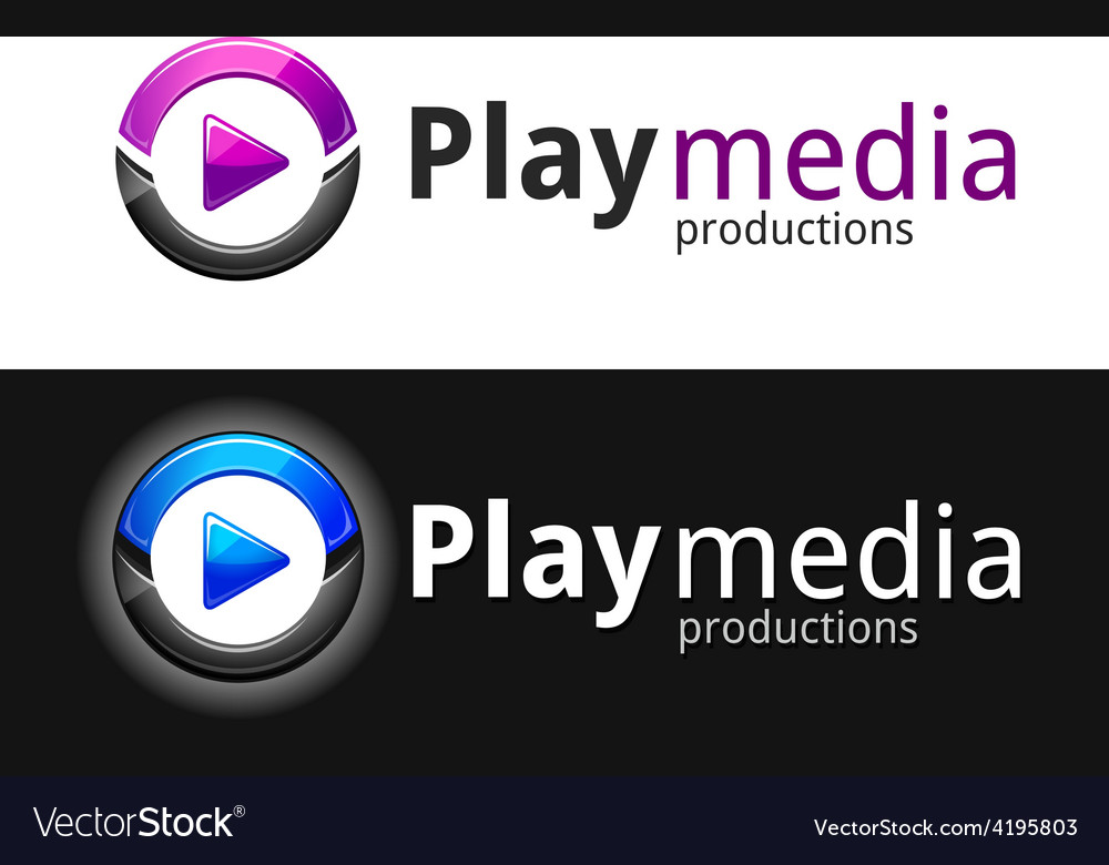 Play media logo vector | Price: 1 Credit (USD $1)
