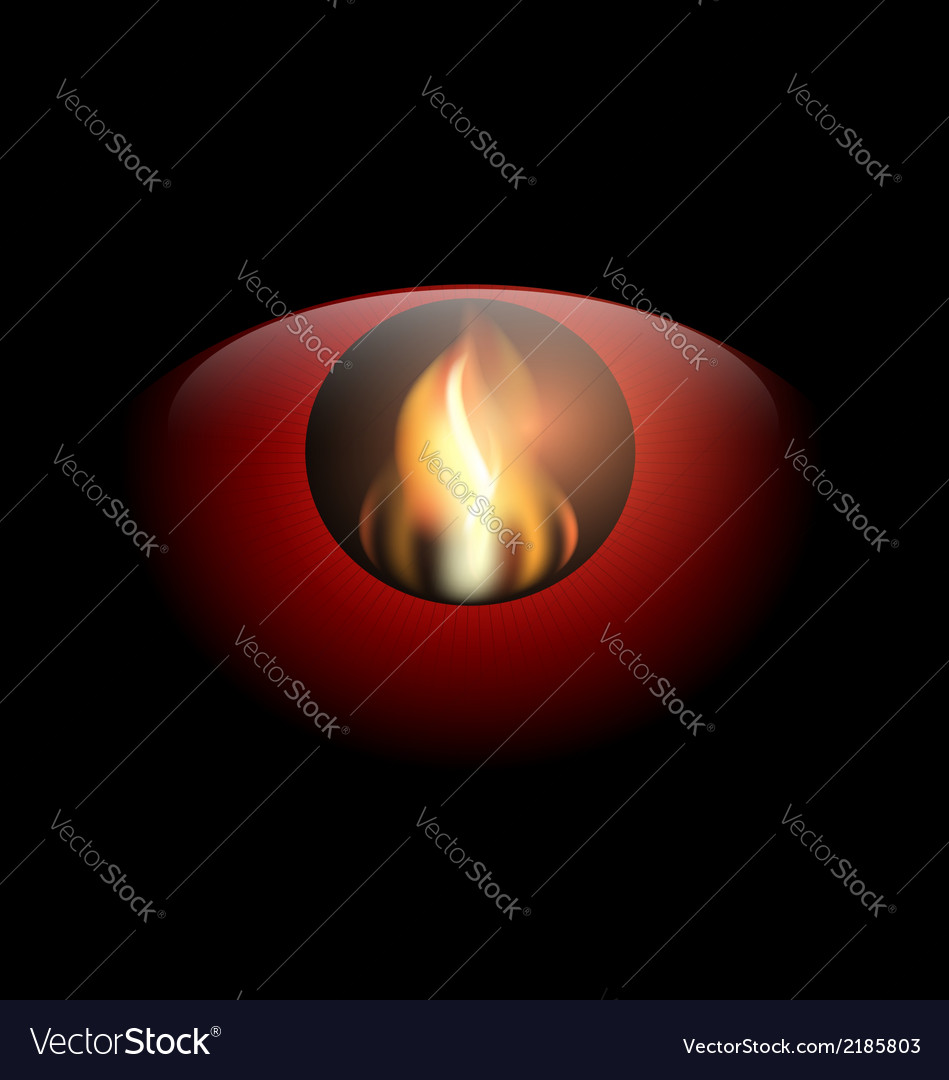 Red eye and flame vector | Price: 1 Credit (USD $1)