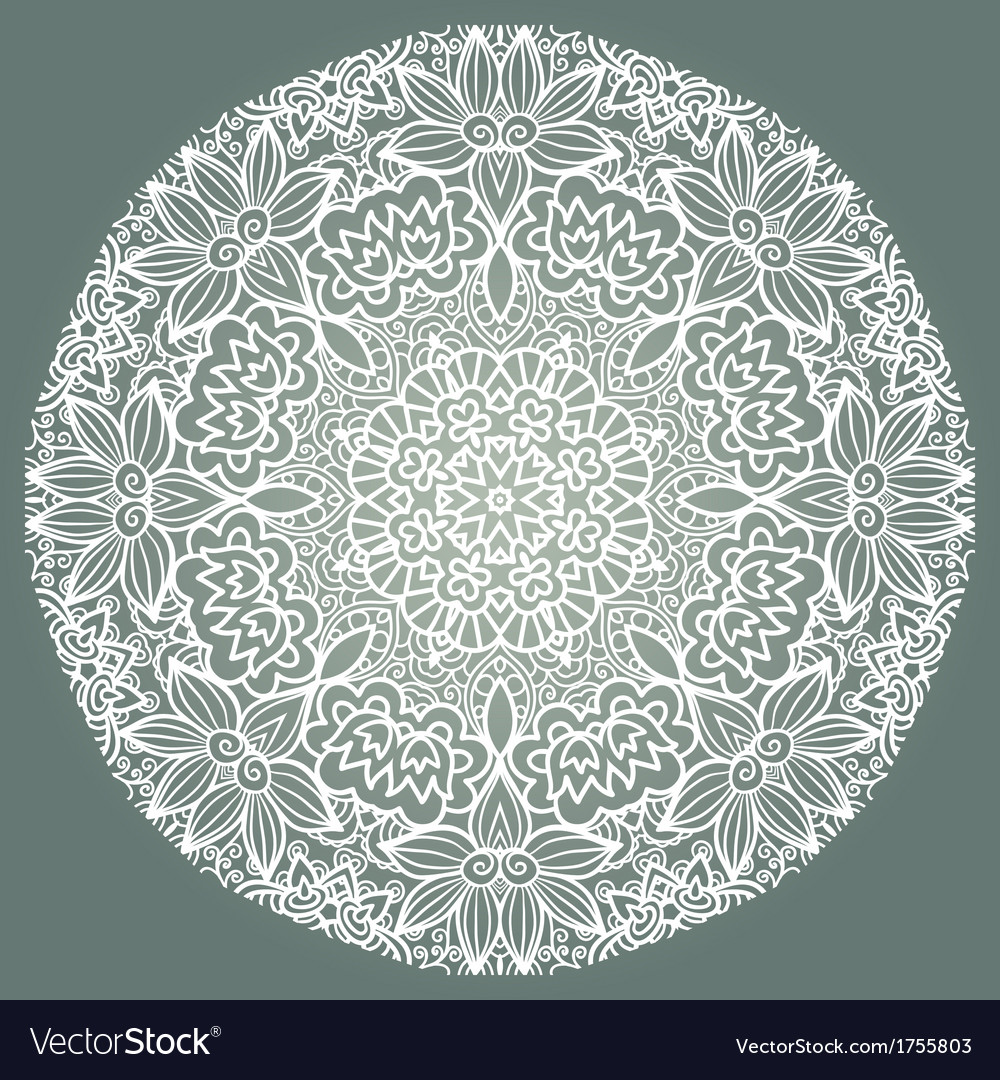 Round ornament napkin vector | Price: 1 Credit (USD $1)