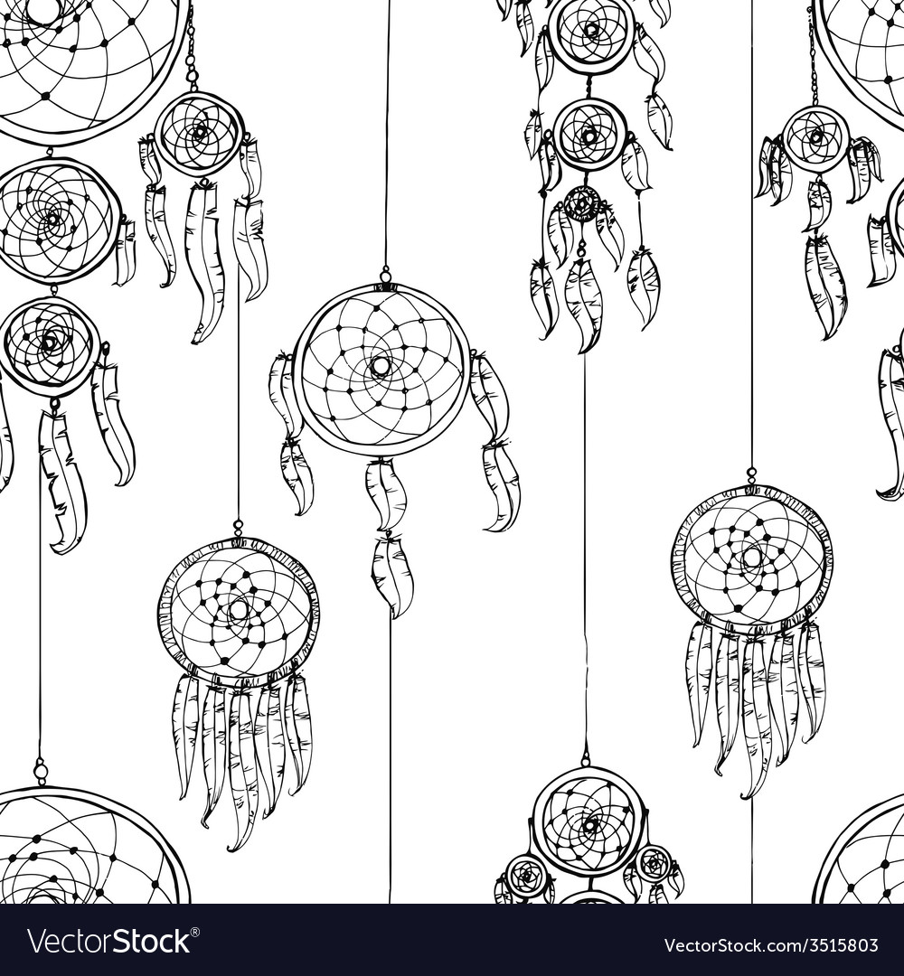 Seamless with dream catchers vector | Price: 1 Credit (USD $1)