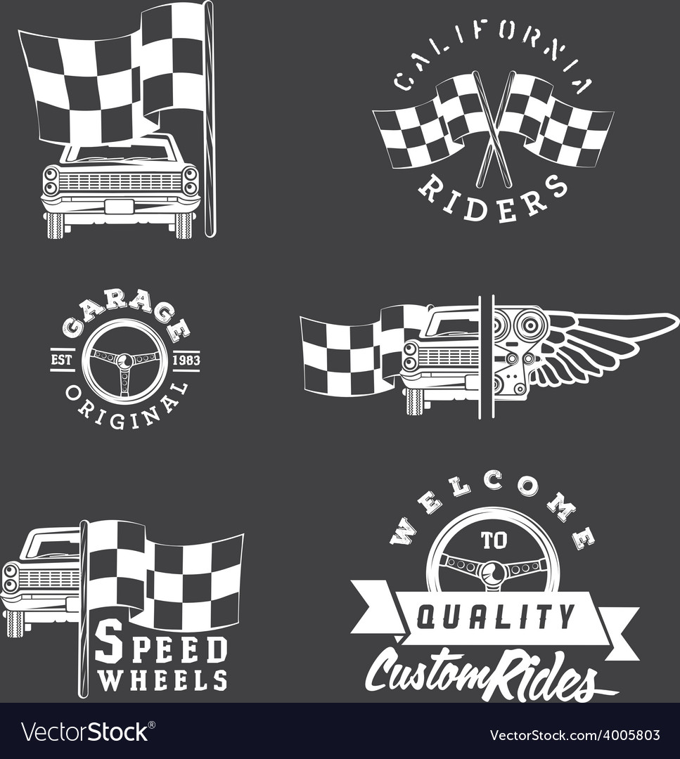 Set of vintage auto service labels vector | Price: 1 Credit (USD $1)