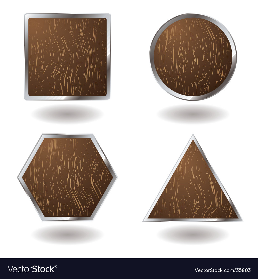 Wood button variation vector | Price: 1 Credit (USD $1)