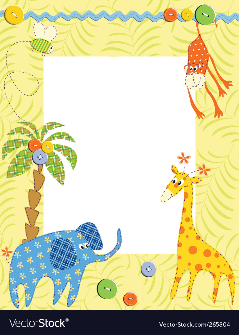 Baby frame or card vector | Price: 1 Credit (USD $1)