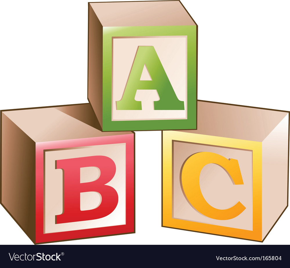 Blocks letters vector | Price: 1 Credit (USD $1)