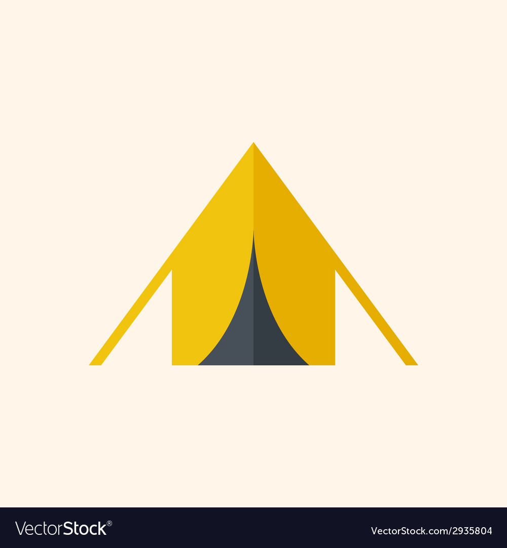 Camping travel flat icon vector | Price: 1 Credit (USD $1)
