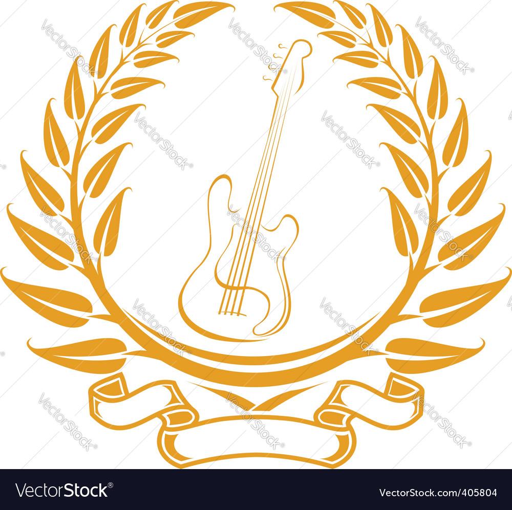 Electro guitar symbol vector | Price: 1 Credit (USD $1)
