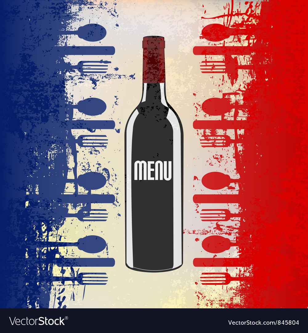 French wine menu template vector | Price: 1 Credit (USD $1)