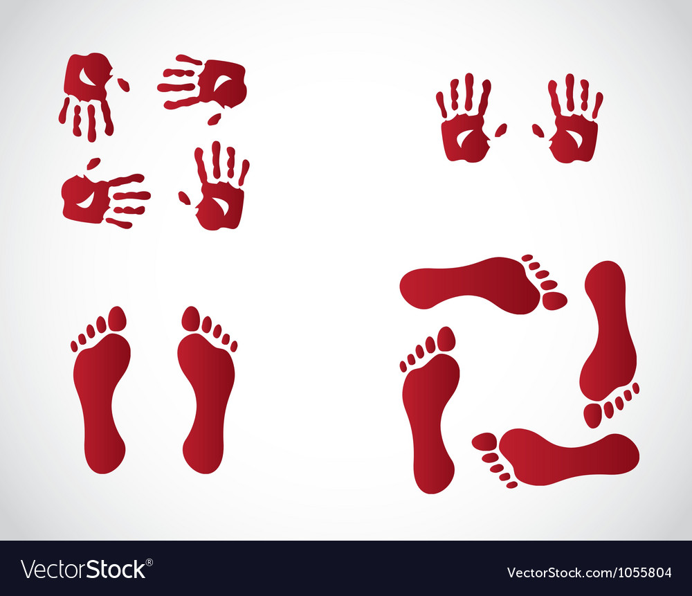 Hand and feet gestures vector | Price: 1 Credit (USD $1)