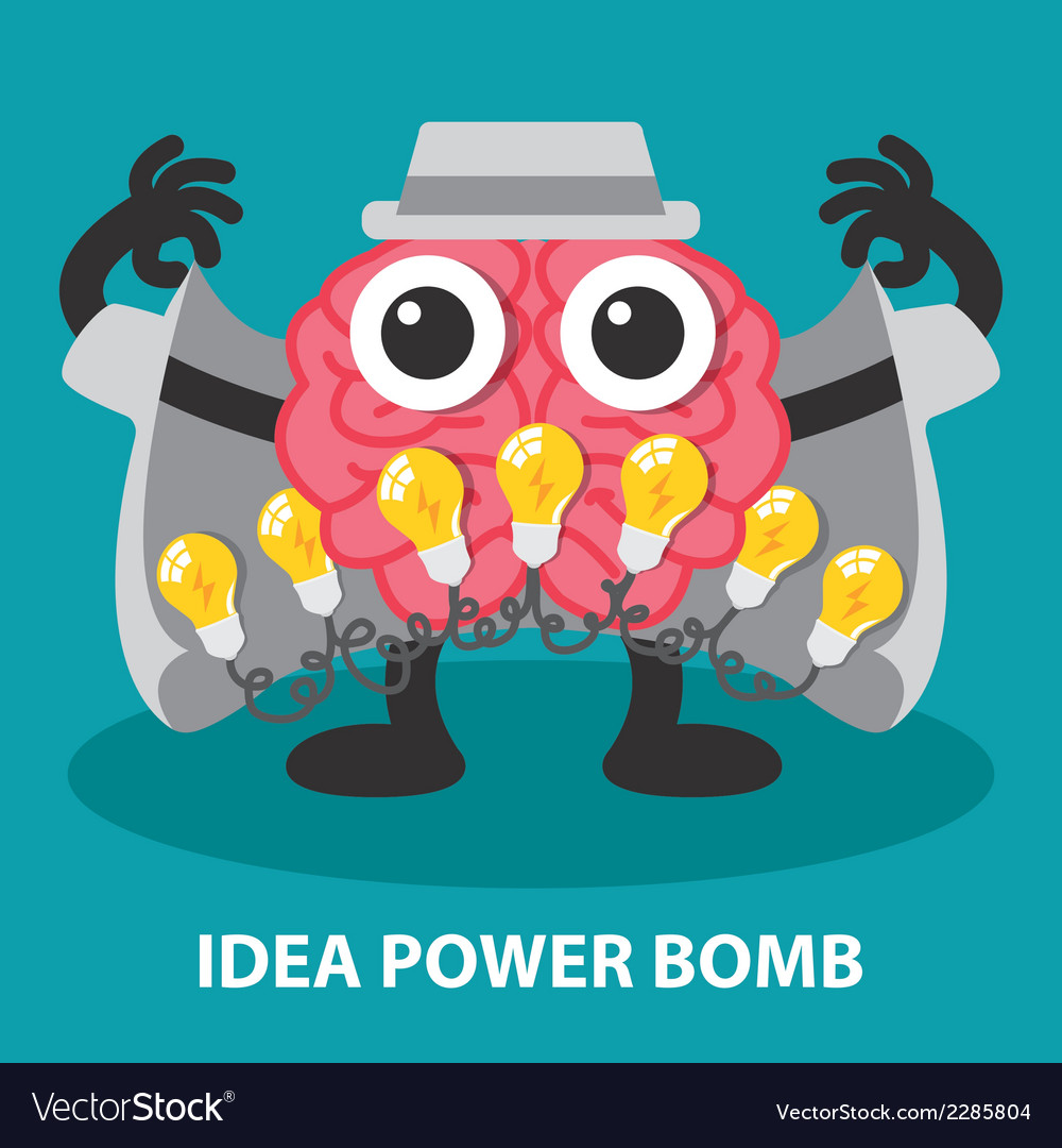 Idea power bomb vector | Price: 1 Credit (USD $1)