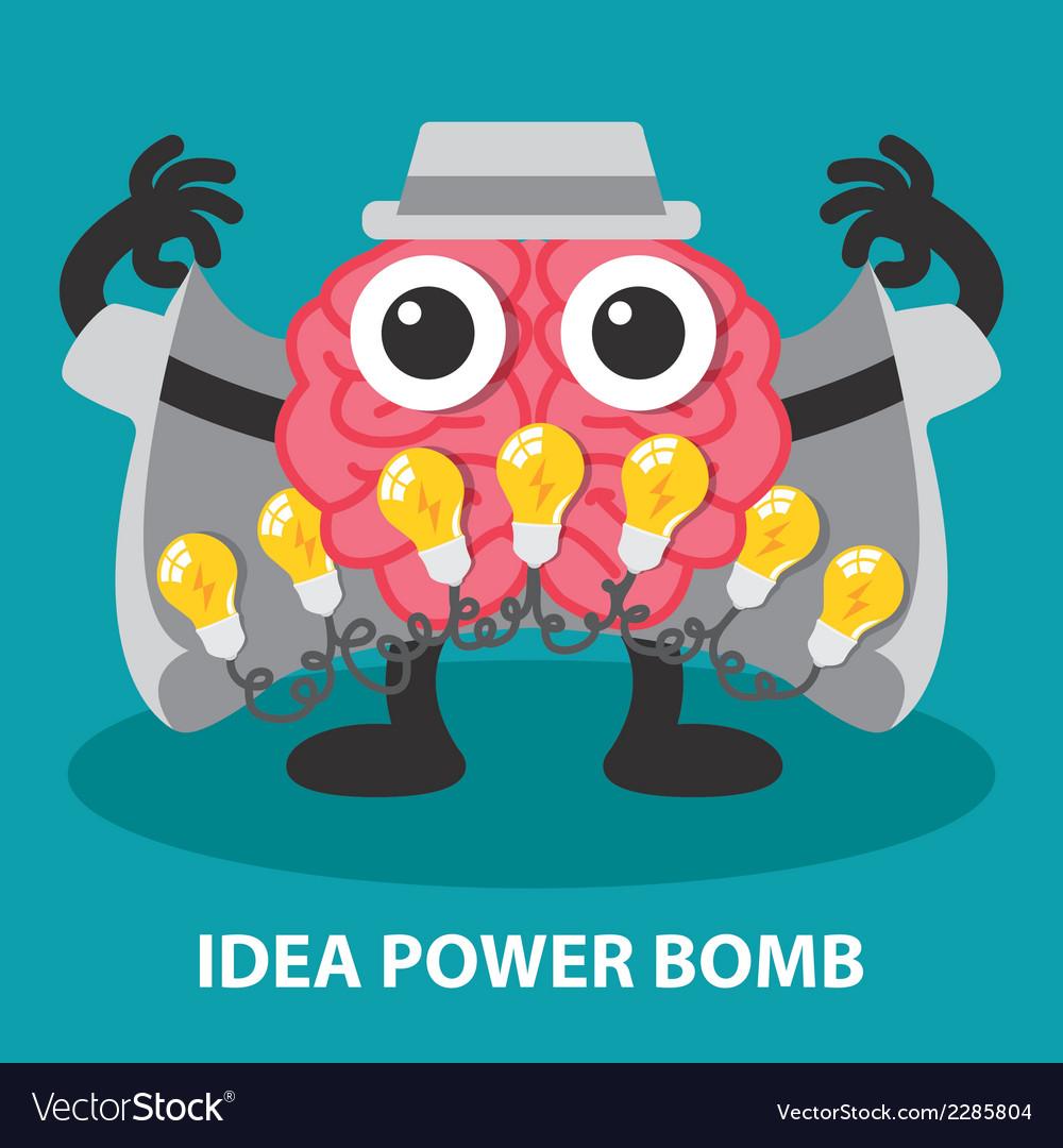 Idea power bomb vector | Price: 1 Credit (USD $1)