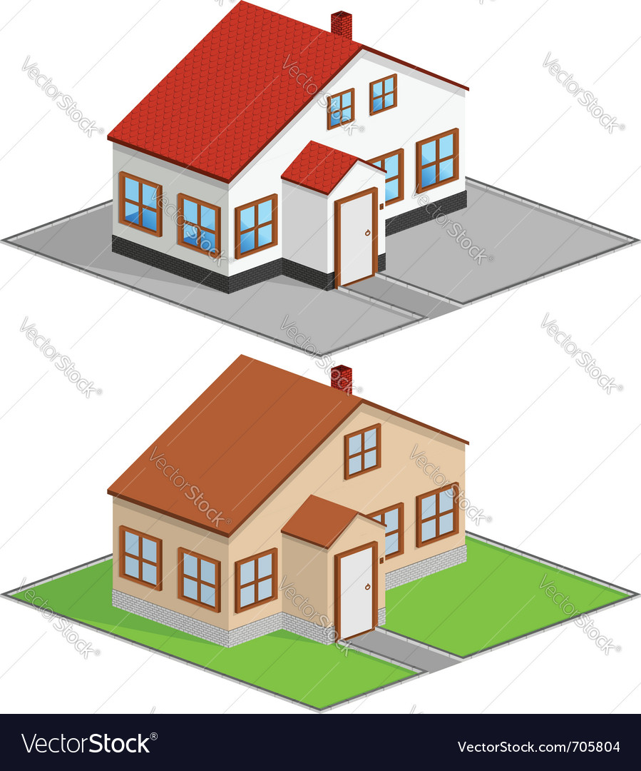 Isometric house vector | Price: 3 Credit (USD $3)