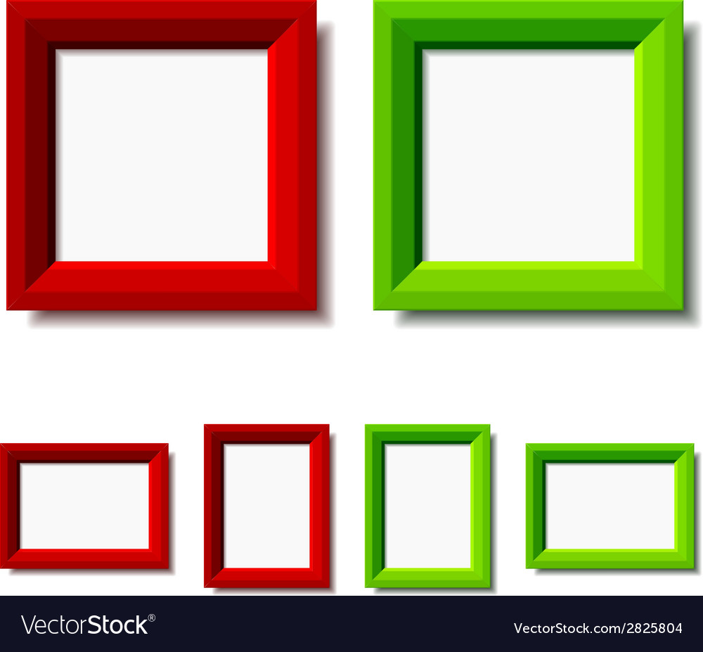 Red and green photo frames vector | Price: 1 Credit (USD $1)